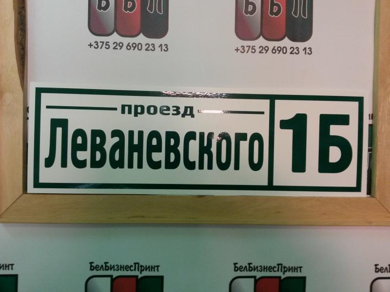 Табличка Техно 50 на 16 см зелёные буквы 09 10 18