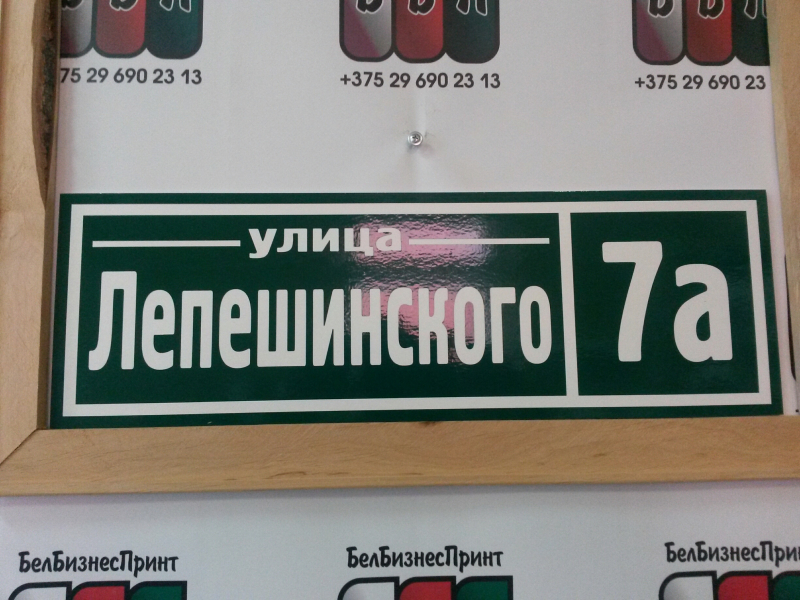Табличка Техно 50 на 16 см зелёный фон 24 10 18